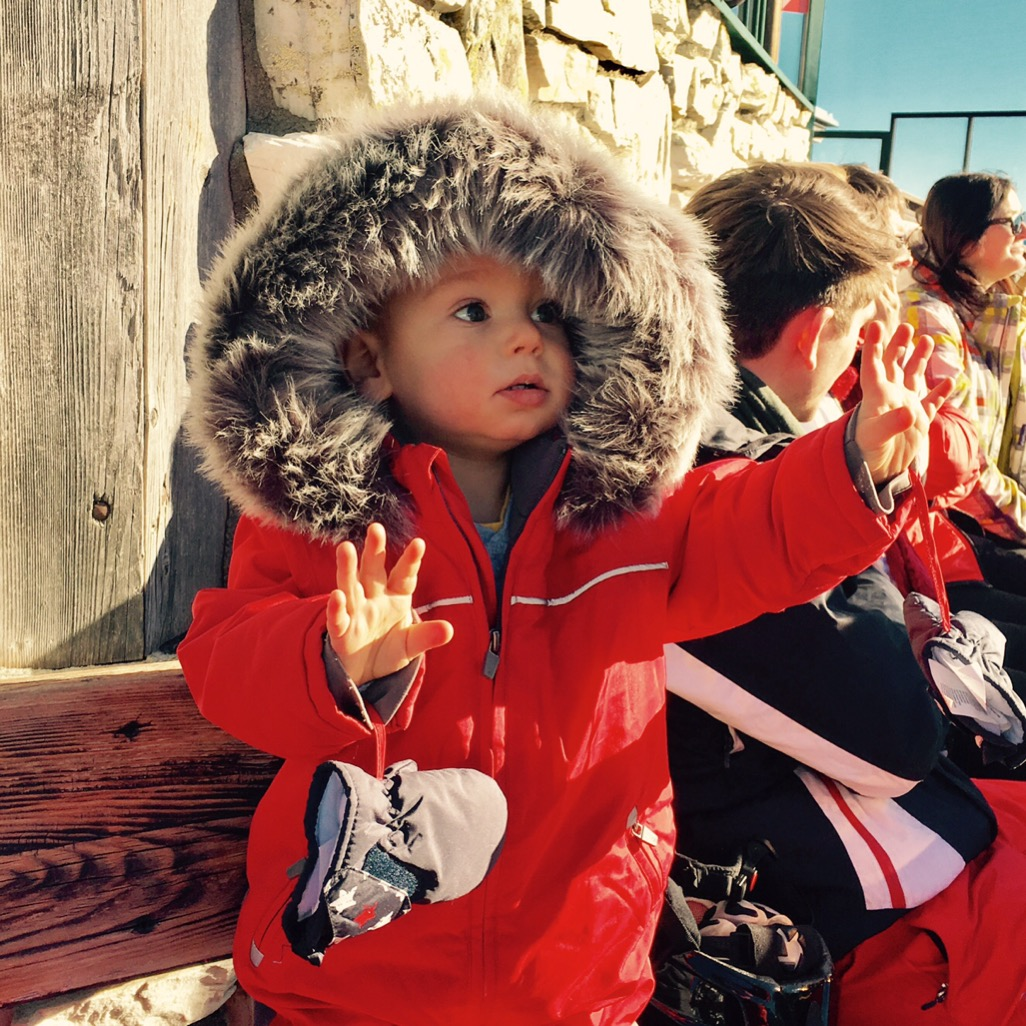 Leos erster Ausflug auf 2.000m über N.N., Grosseck, AT, Dezember 2016