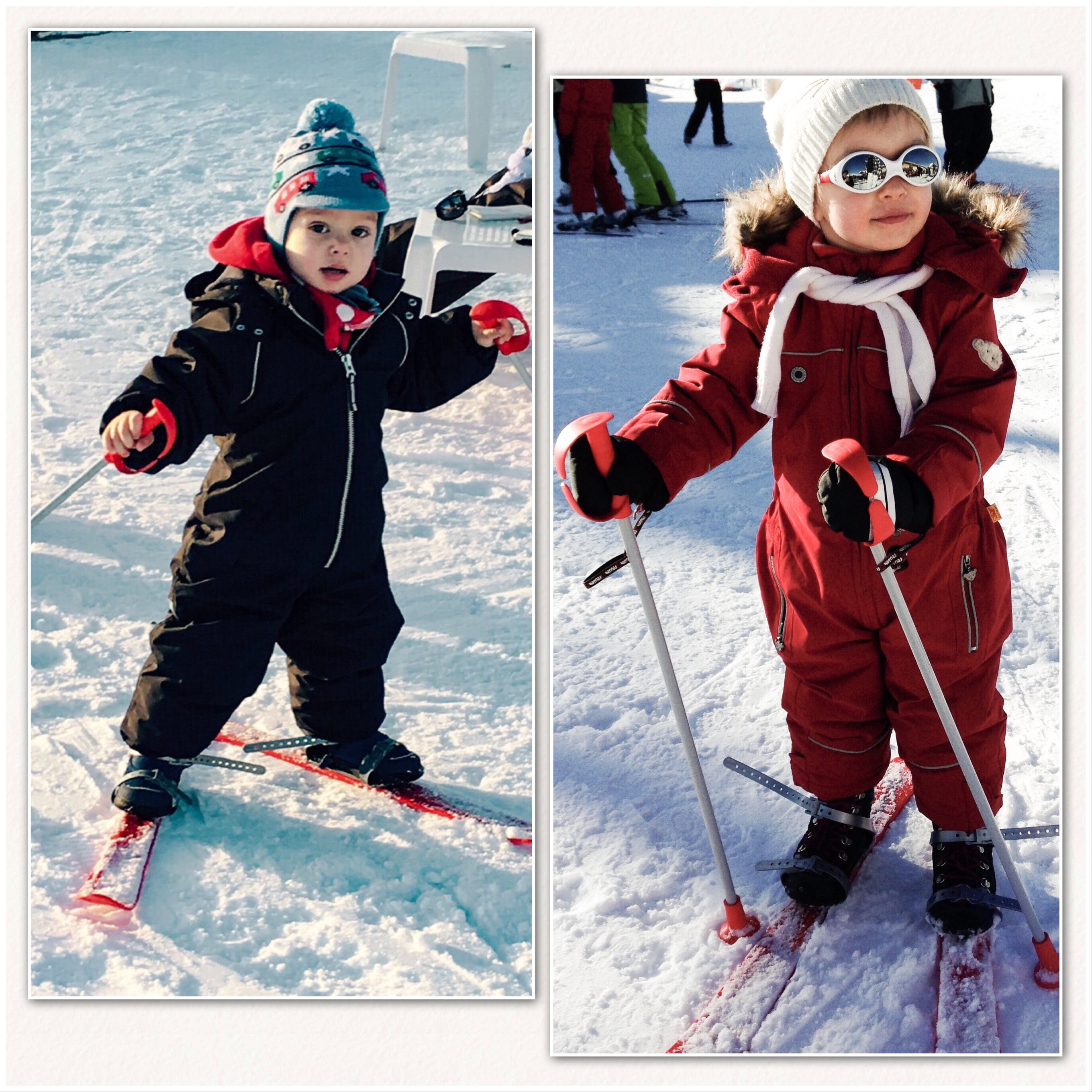 """Leos erster """"Skitag"""", Dezember 2017 - Sarah Sophie, Dezember 2013, Samoëns, F"""